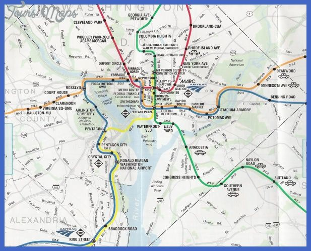 awesome Washington Metro Map