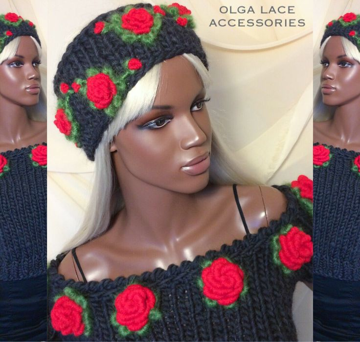 Купить Повязка на голову с розами рококо от Olga Lace - повязка на голову, повязка с розами