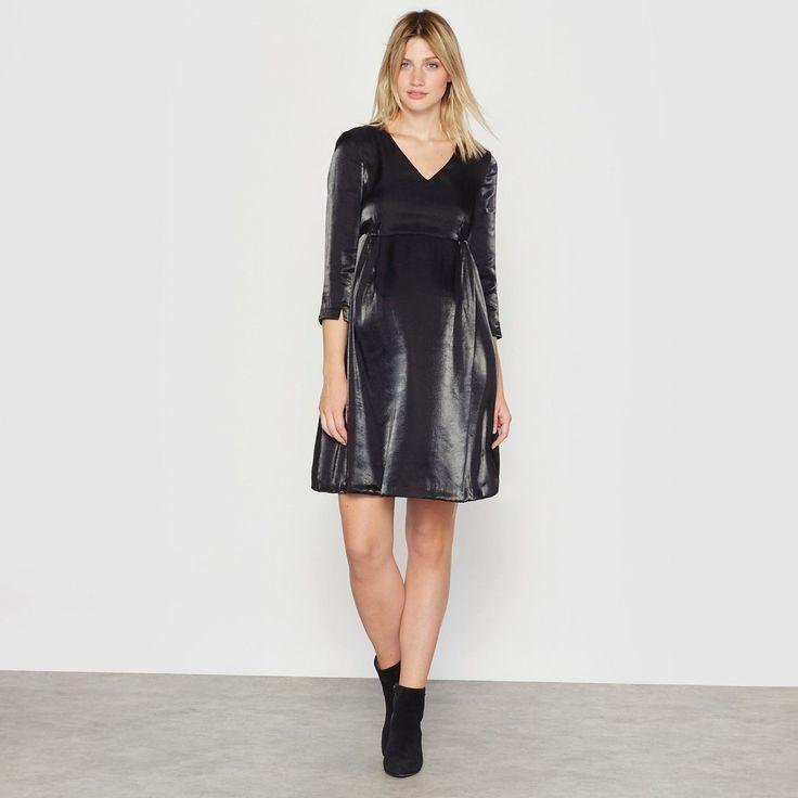 R Essentiel Womens Metallic Effect Maternity Dress