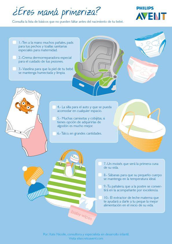 La lista de todos los elementos que debes de contemplar para el nacimiento de tu bebé. Por: Kate Nicolle.