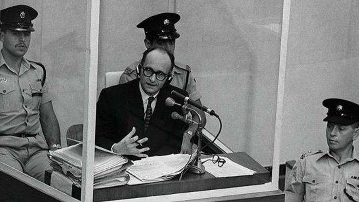 """""""We shall meet again. I have believed in God. I obeyed the laws of war and was loyal to my flag"""" -Adolf Eichmann-"""