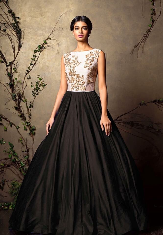 Gorgeous Black Gown by Shyamal and Bhumika.