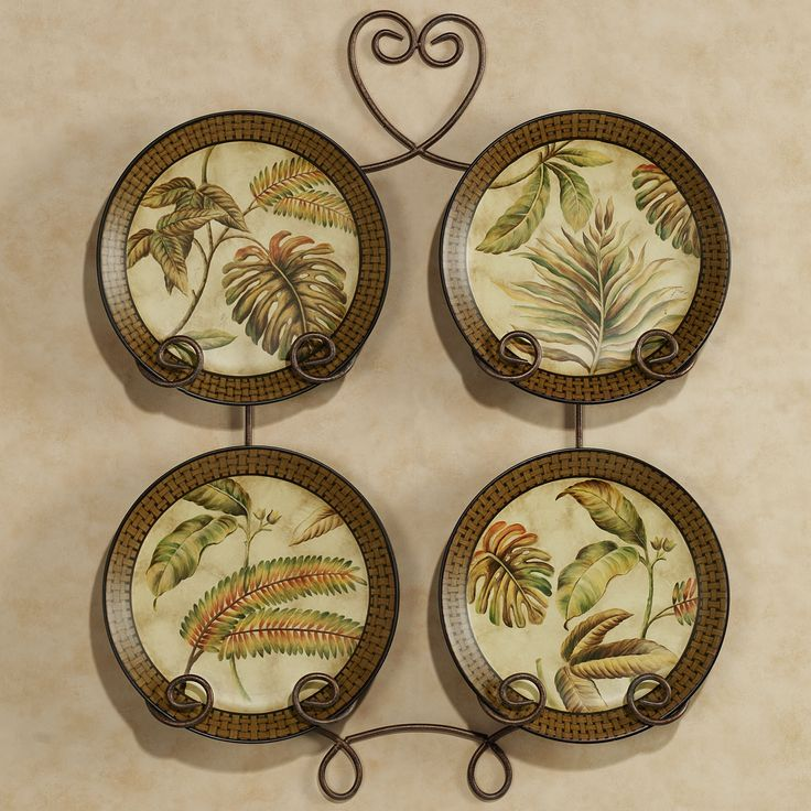 Tropical Leaves Parade Decorative Plate Set