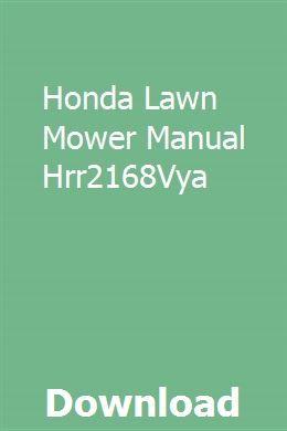 Honda Lawn Mower Manual Hrr2168Vya   orprembaska   Honda