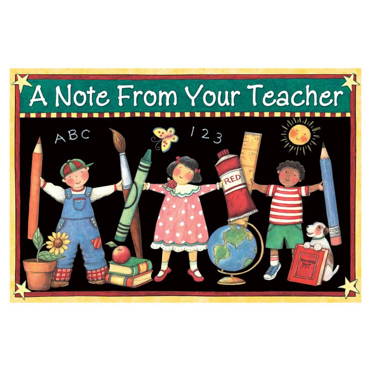 SW NOTE FROM YOUR TEACHER POSTCARD