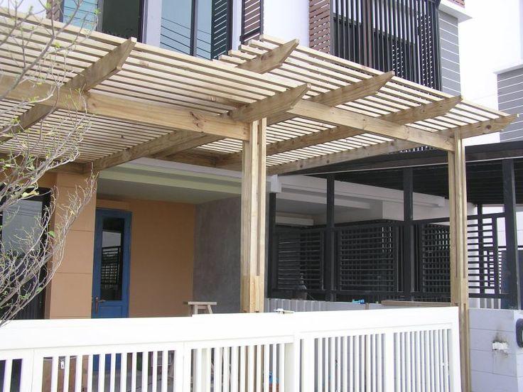 PANTIP.COM : R9010146 ขอภาพบ้านเจ้าของที่ทำพื้นไม้ระแนง และ ซุ้มระแนงบังแดด วอนใครมีไอเดียสวย ๆ ดี เจ๋ง ๆ [เฟอร์นิเจอร์-ตกแต่ง]