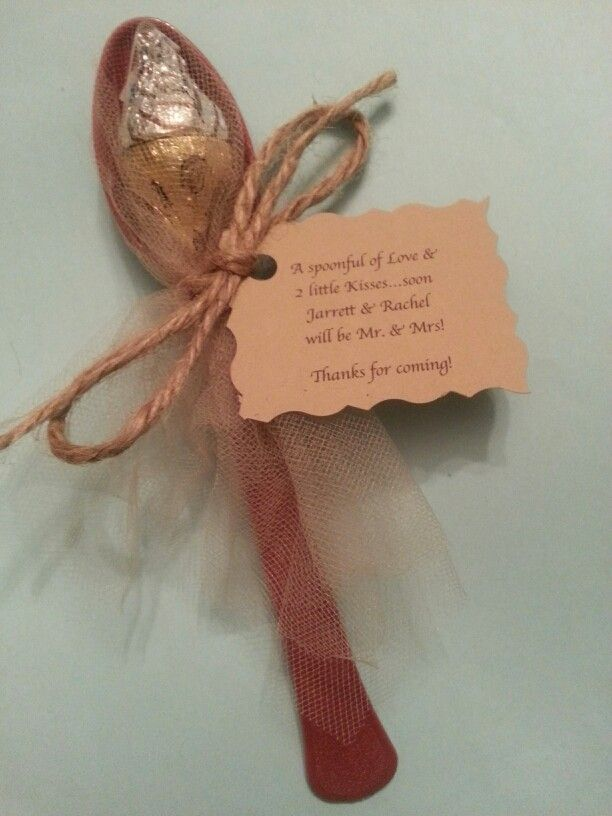 Bridal shower favors for at wedding and/or shower