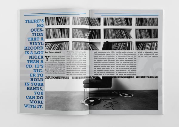 Spread from vinylia promotional magazine