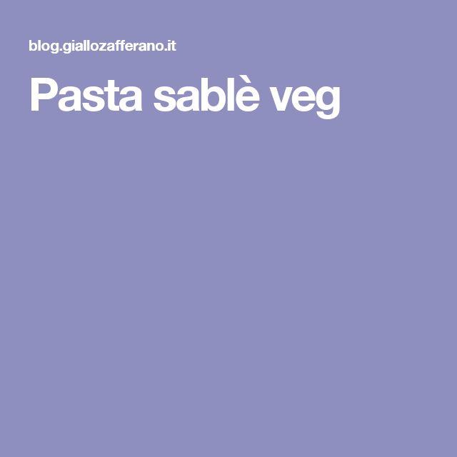 Pasta sablè veg