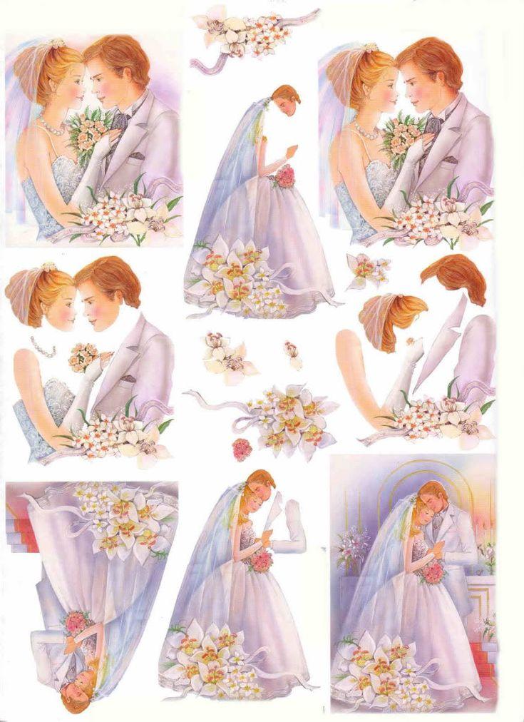 wedding decoupage sheet photobucket | invitaciones | Pinterest