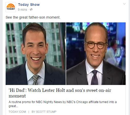 2015 NBC Lester Holt and his son
