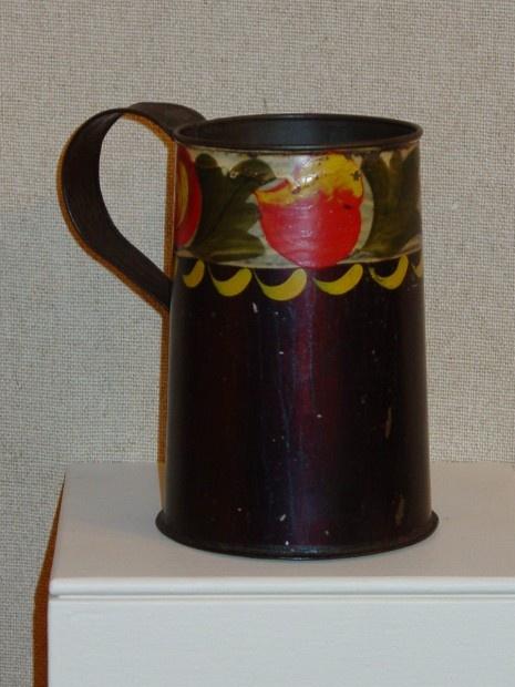Toleware Mug OldeHope Antiques