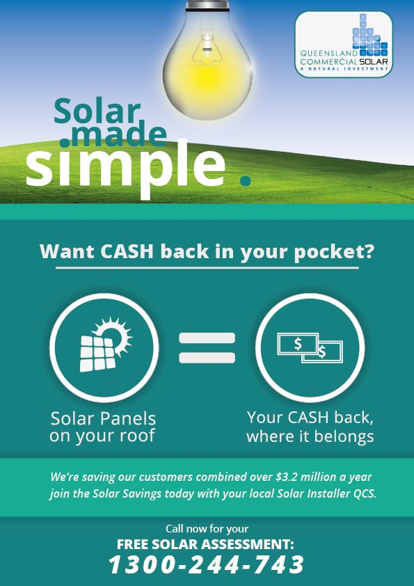 Brochure for Queensland Commercial Solar http://qcsolar.com.au/