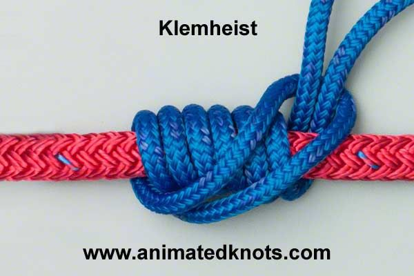 Klemheist (Machard, French Prusik) Knot - Emergency climbing knot
