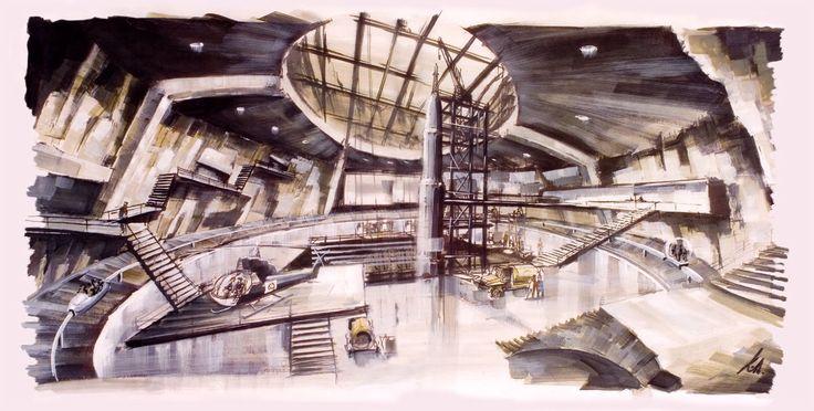 James bond preparatory sketch by sir ken adam