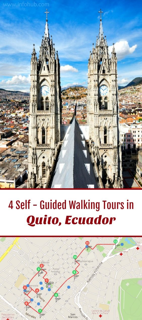 Follow these 4 expert designed self-guided walking tours in Quito, Ecuador to explore the city on foot at your own pace. Each walk comes with a detailed tour map and together they are the perfect Quito city guide for your trip.