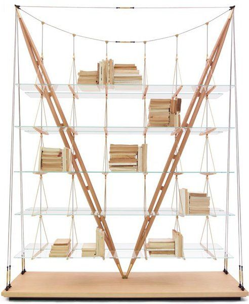 Franco Albini's Veliero Bookshelf is a beautifully engineered and sculptural bookshelf that it seems almost a shame to actually use it... for books!