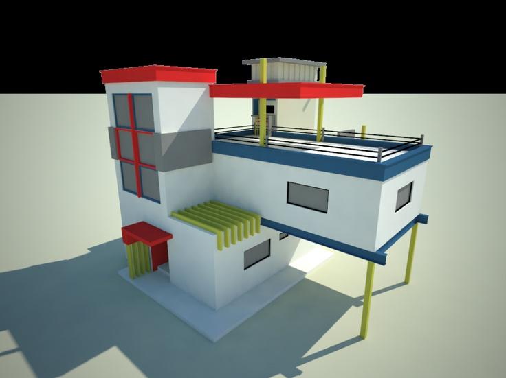 25 best de stijl images on pinterest de stijl abstract for De stijl architettura