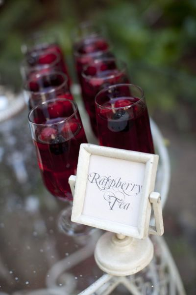 Gorgeous drink - raspberry tea. may regular ice tea as well for arrival prior to ceremony