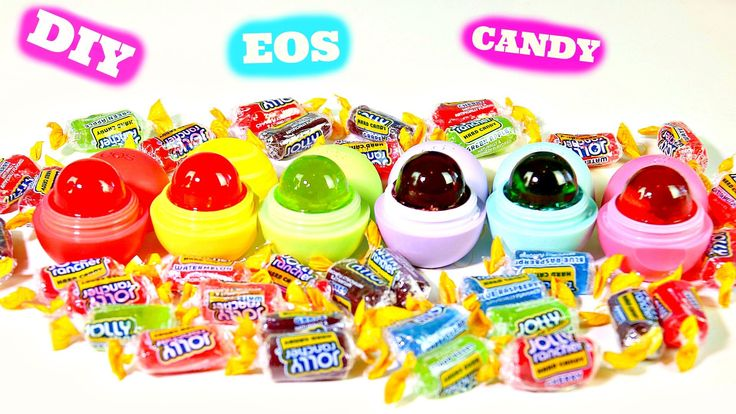 Today we show you how to make edible sweets EOS lip balm with hard candy Jolly Ranchers they are so colorful, easy to make and delicious BUT remember you nee...