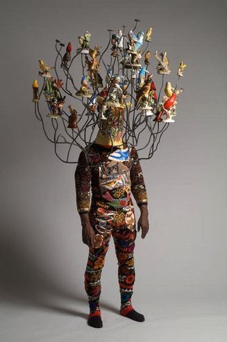 """""""My work, clothing and fiber-based sculptures, collages, installations, and performances,explore the use of textiles and clothing as conceptual modes of expression and pose fundamental questions about the human condition in the social and political realm…"""" Nick Cave"""