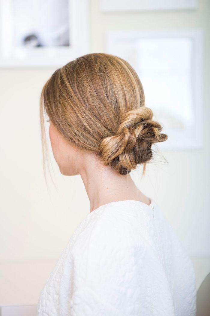 Einfache Frisuren Für Lange Haare Geflochtener Dutt Selber Machen