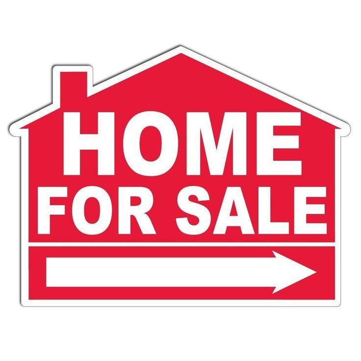 Home for Sale House Shaped Sign - with EZ Stakes