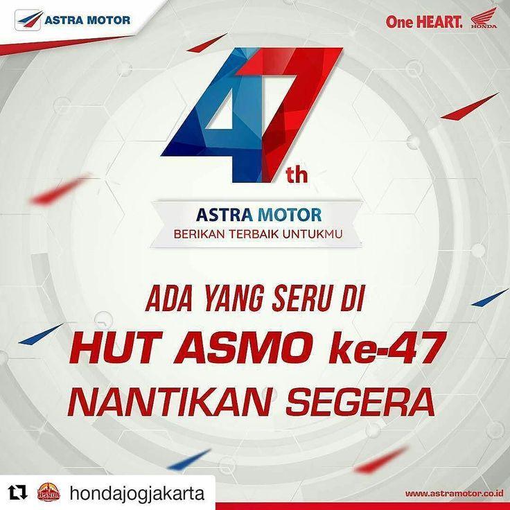 #Repost @hondajogjakarta (@get_repost)  Sebentar lagi Astra Motor ulang tahun lho Brosis! Asyiknya bikin apa ya untuk merayakan ulang tahunnya Astra Motor? Brosis ada ide? Share yuk di kolom komentar! #astramotor47 #OneHEART