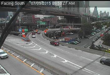 Webcam Franklin D. Roosevelt @ Pont Brooklyn - Caméra de circulation montrant l'autoroute...