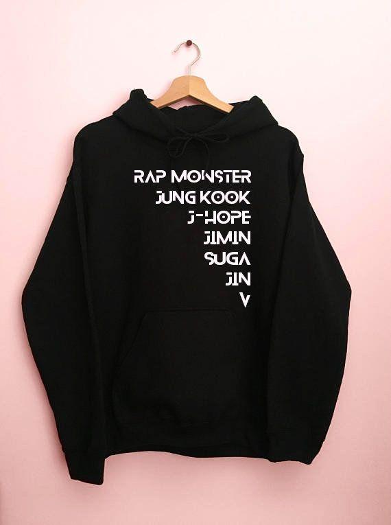 BTS Members Hoodie bts kpop bts v bts jungkook bts wings bts merch bts army  bts members hoodie bts jimin bts suga KPOP T-shirt BTS Hoodie 26341360fb40b