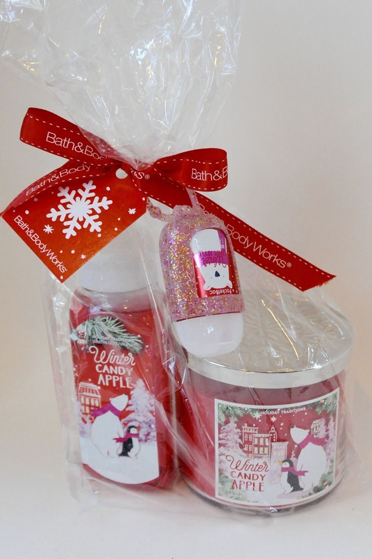 Bath and body works winter candy apple clean cozy gift