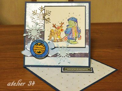 Christmas card 2012 with Humphrey's Corner by Crafter's Companion stamp