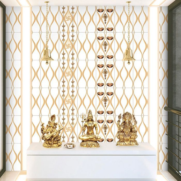 10 Best Pooja Room Tiles Marble Designs With Pictures Wall Tiles Design Pooja Rooms Room Tiles Design