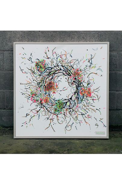 A contemporary embroidery artist who uses her sewing machine as a paint brush
