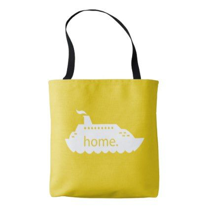 Cruise Ship Home - yellow Tote Bag - holidays diy custom design cyo holiday family