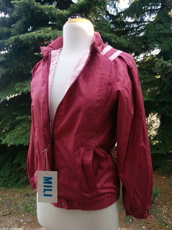 Check out this item in my Etsy shop https://www.etsy.com/listing/462930299/vintage-80s-pink-pleated-bomber-by-mili