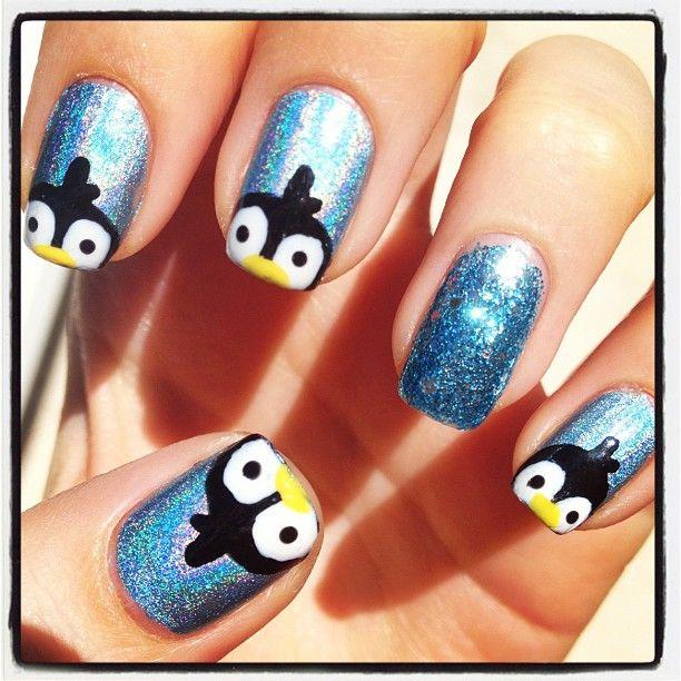 Penguin Nail Art Designs: 118 Best Penguin Nails Images On Pinterest