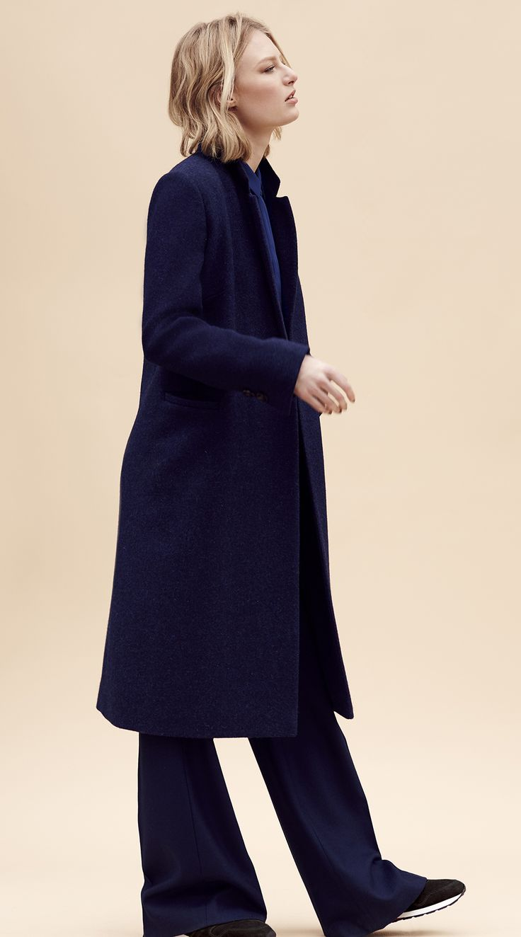 Pair the Best of British Jane Trousers with the Elizabeth Coat for a stylish office & going out look.