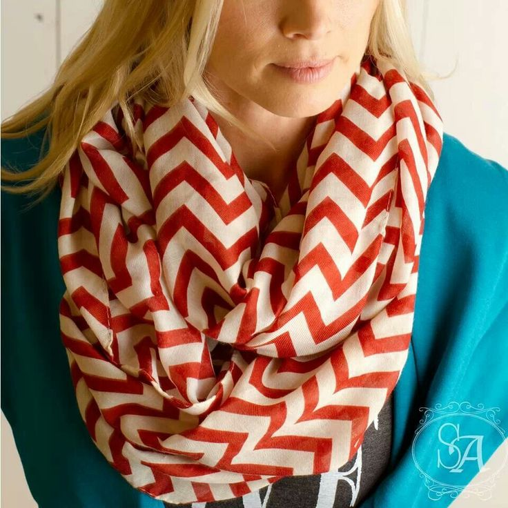 Simple chevron scarf, perfect for fall