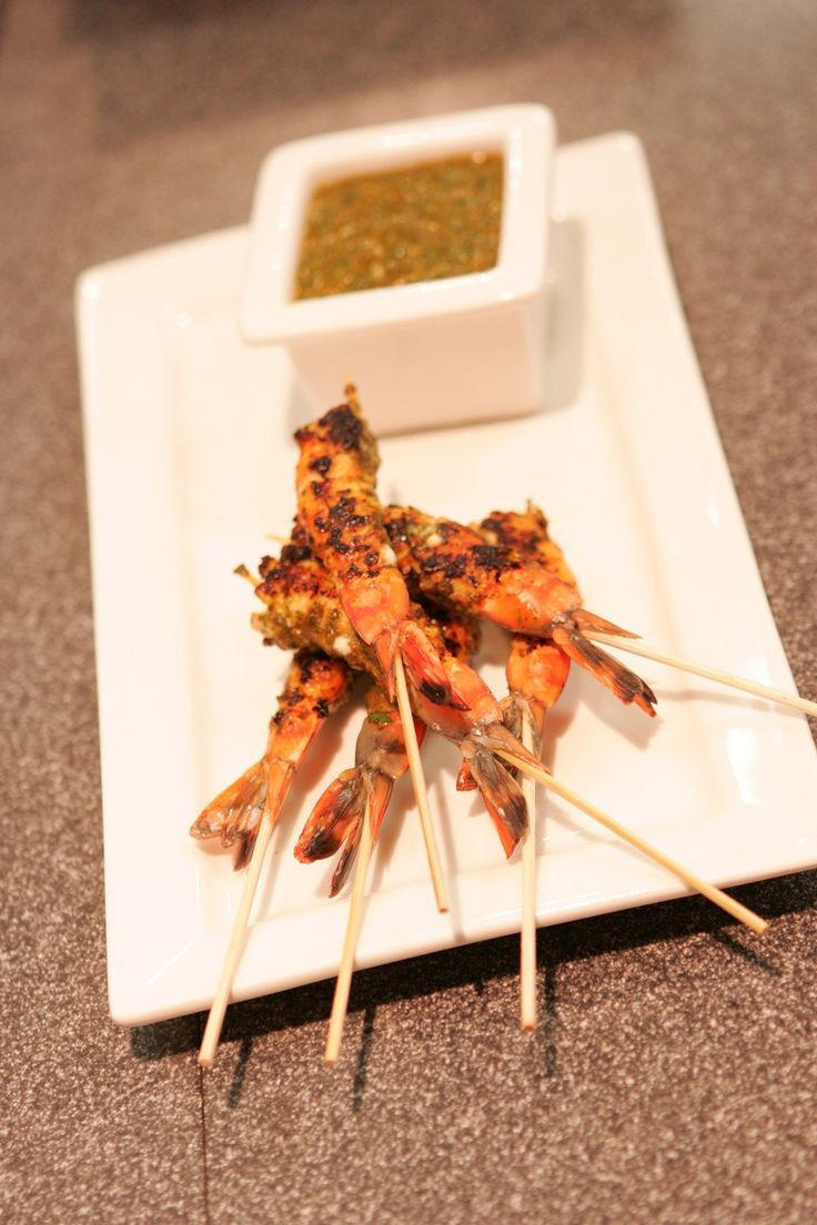 Prawns in spicy herb marinade (Seafood BBQ class)