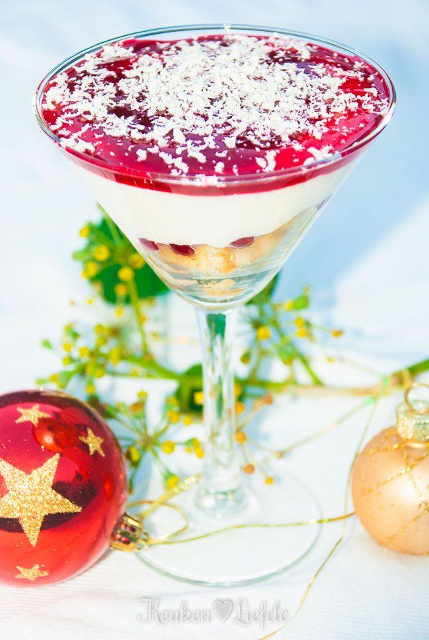 Trifleglaasjes: supermakkelijk kerstdessert!