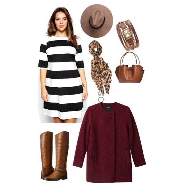A fashion look from November 2014 featuring ASOS Curve dresses, Monki jackets and Frye boots. Browse and shop related looks.