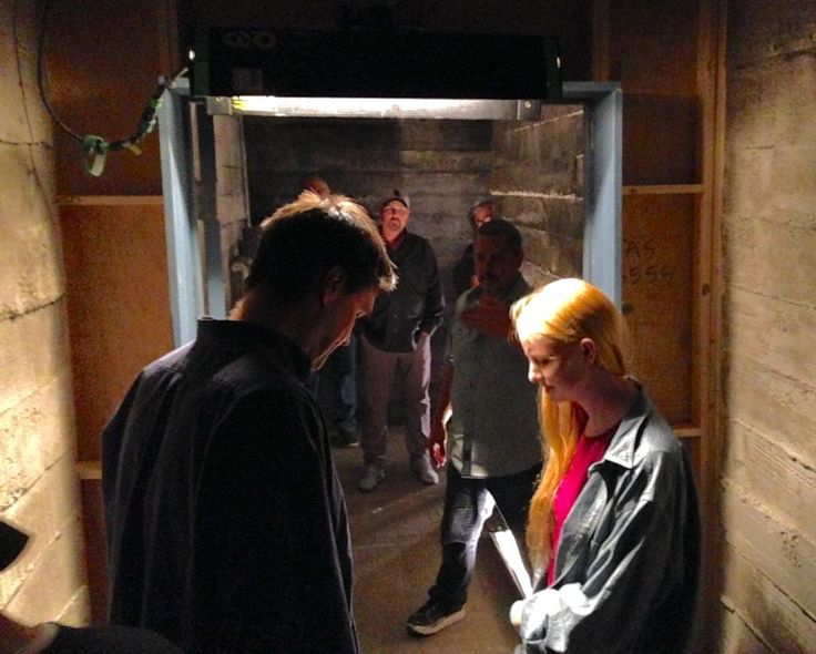 "Andrew Bikichky on Twitter: ""Corridors leading to Prison Cell set. Rob Bowman lining up a shot Ep803 #Castle http://t.co/N888Hv1QlQ"""