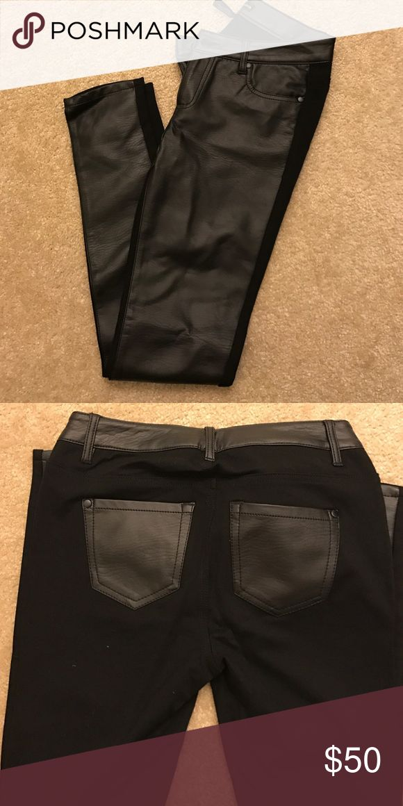 50% OFF AQUA pants- new condition!! Faux leather in the front/ spandex in the back- new condition!!! Aqua Pants Leggings