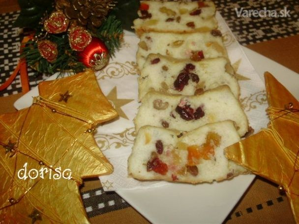 Chlebíček z bielkov a kandizovaného ovocia (fotorecept)