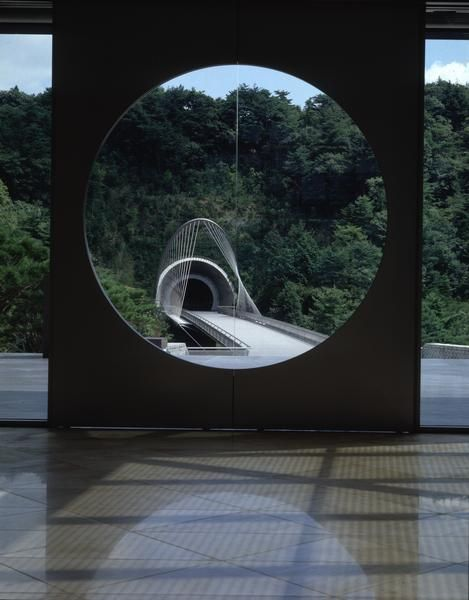 Miho Museum, Japan  (A museum built inside of a mountain by I.M Pei, the achitect who designed the Louvre museum in France)