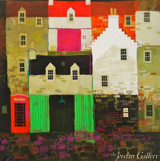 George Birrell (Phonebox and green doors, Jerdan Gallery(