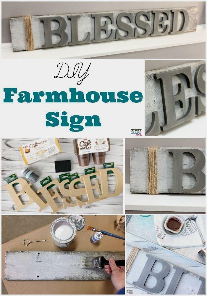 DIY Farmhouse Wood Signs + Me Zeit für Mama!
