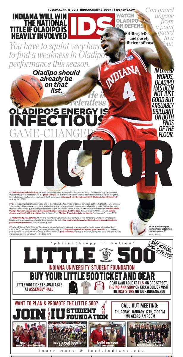 Basketball Wrap preceding the IU vs. Wisconsin game Jan. 15, 2013   Indiana Daily Student