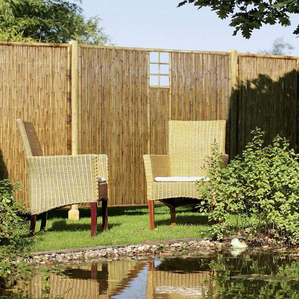 Sichtschutzwand Bambus, ZEN Ziergitter mittig